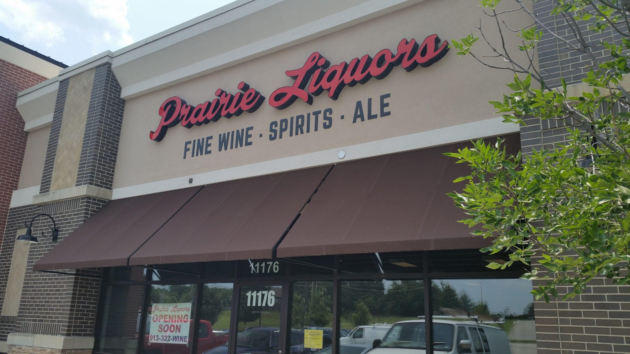 prairie liquors sign