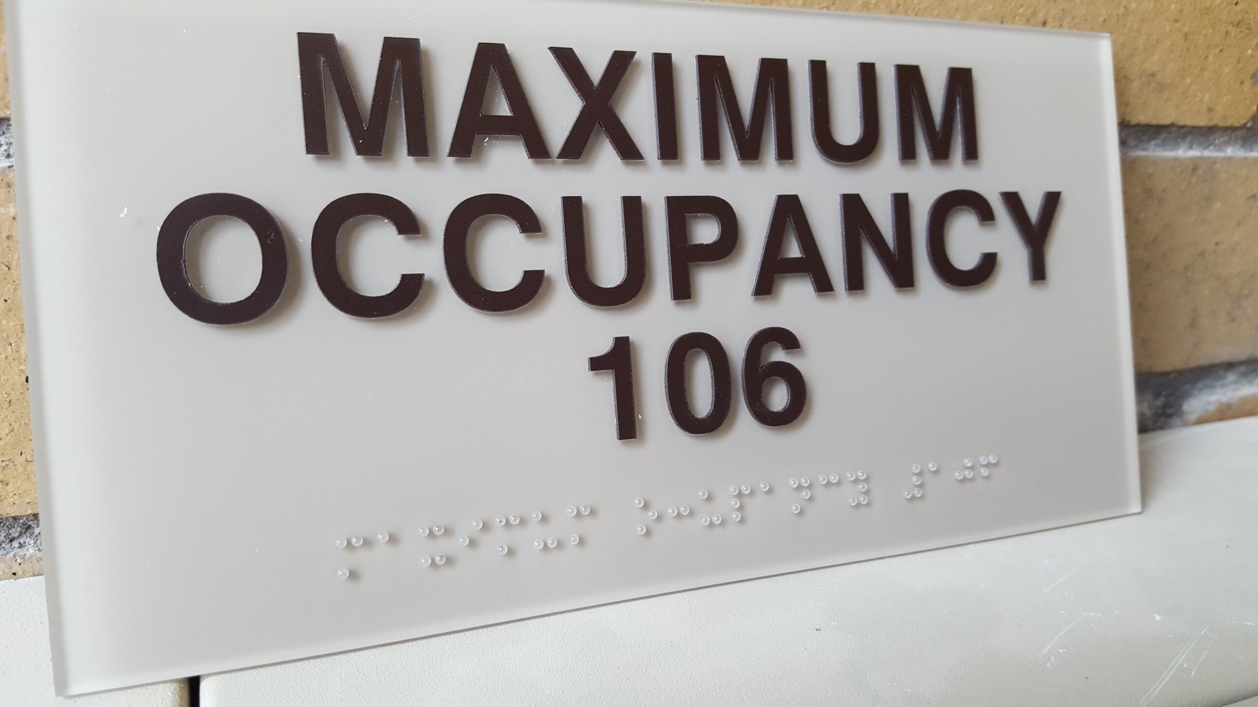 ADA compliant signs