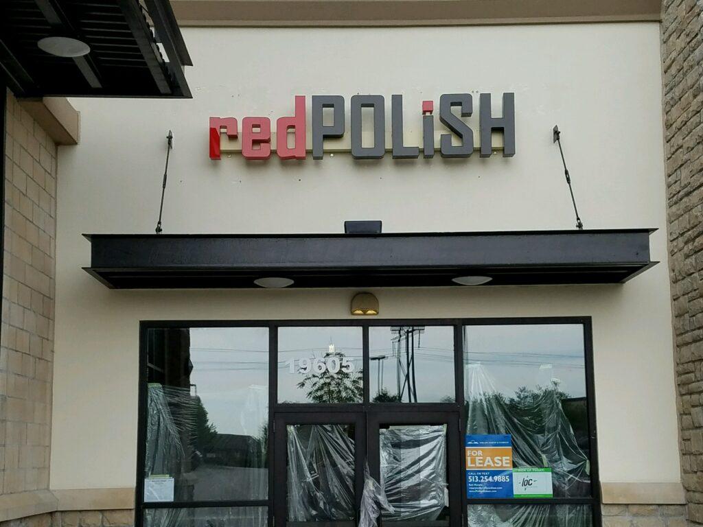 red polish sign