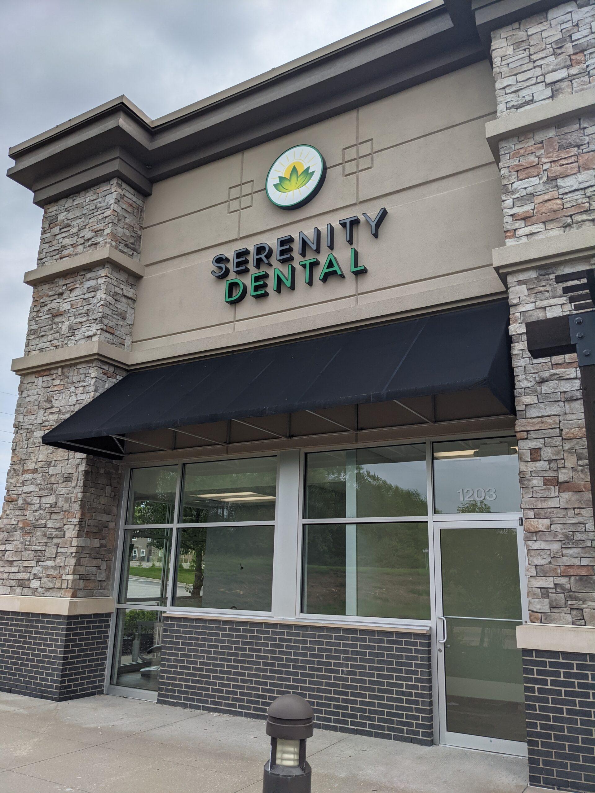serenity dental sign